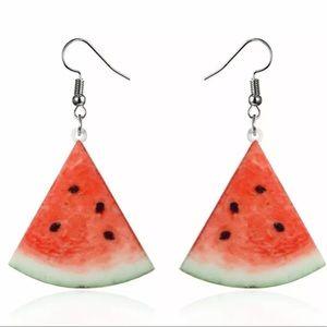 Jewelry - Watermelon earrings NEW dangle hook acrylic